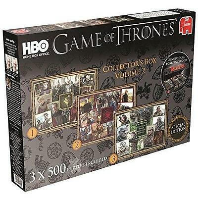 New Jumbo Game of Thrones 3x500 Piece Jigsaw Puzzles Collectors Box Volume 2