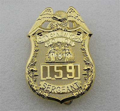 U.S CITY Of NEW YORK SERGEANT Pure Copper Badge 159 Collection