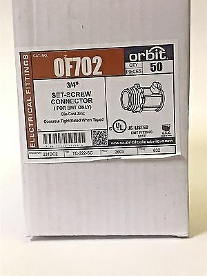 "10Pc Of702 3/4"" Set-Screw Connector For Emt"