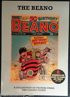 "BEANO 50th BIRTHDAY  POSTER PACK 8 X 12"" x 16"" PICTURES"
