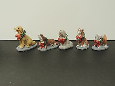SET OF 5 XMAS POOCH Figure Ready to Display1:24 MINIATURE (G) SCALE DIORAMA