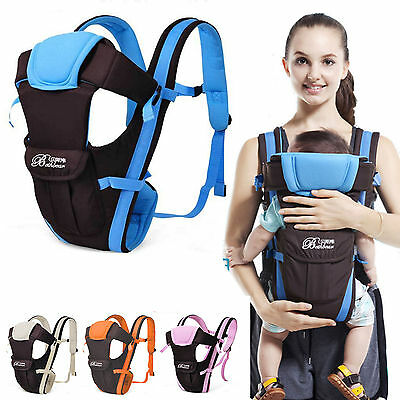 4 Way Baby Carrier 3D Backpack Wrap Soft Ergonomic Sling Front Back for Baby UK