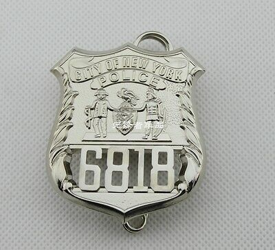 U.S CITY Of NEW YORK SERGEANT Pure Copper Badge 6818 Collection