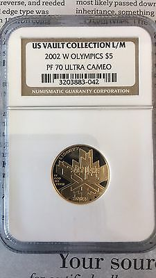 2002-W $5 Olympics Gold Commemorative PF70 UC US Vault Collection