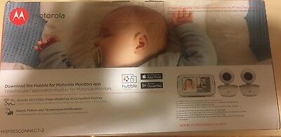 "Motorola Mbp855connect-2 5"" Portable Video Baby Monitor With Wi-fi & Two Cameras"
