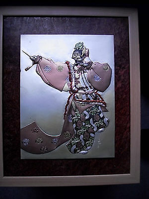 Extremely rare Japanese mixed metal bronze plaque, 1920's superb museum qual.