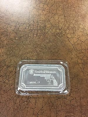 1 Oz .999 Silver Bar Smith And Wesson Model 17