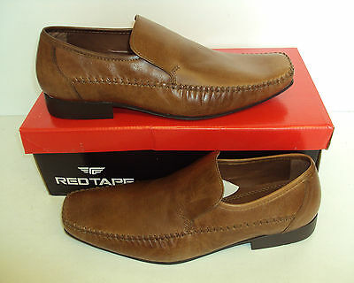 RED TAPE Whittle Men's Leather Tan Slip On Formal Shoes New Sizes UK 6-12