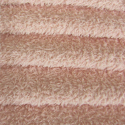 1/3 yd VIS1/SCM Pale Pink INTERCAL 6mm Med. Dense Curly Matted Viscose Fabric