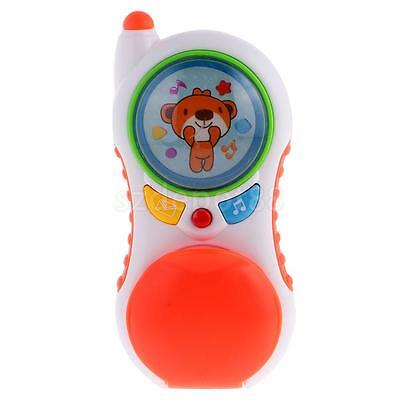 Kids Musical Phone Toy Flip Phone Learning Educational Toys for Baby Toddler
