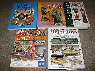 Lot of 5 Antiques & Toy & Collectibles Identification Books