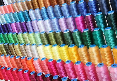 Machine Embroidery Polyester Thread Set:  160 Colors, Jumbo 1000M Spools,