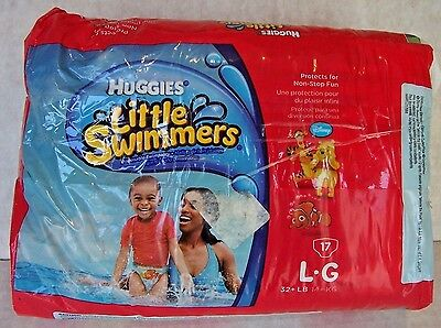 Huggies Little Swimmers Size Large 32+lbs  17 Count