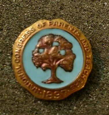 National Congress Of Parents And Teachers 1897  10 K Gold Filled Pin       569