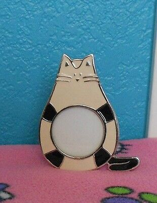 Cute Kitten Pet Photo Frame Black White Silver Cartoon Cat Kitten Photo Frame