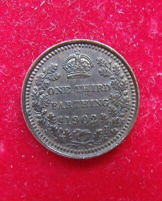 1902 Third Farthing Britiish Coins a nice condition coin see pictures