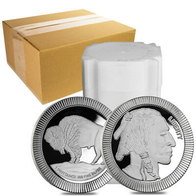 Sale Price - Monster Box of 500 - 1 oz Buffalo Stackable Silver Round .999 Silve