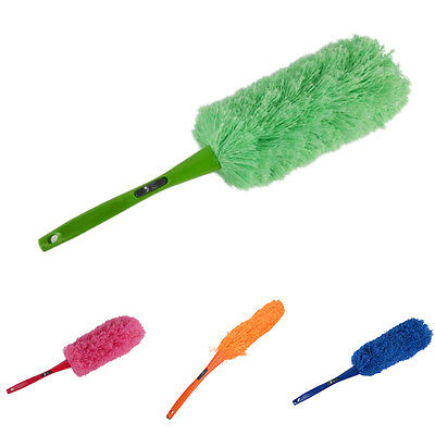 Magic Soft Microfiber Cleaning Duster Dust Cleaner Handle Feather Static Anti FO