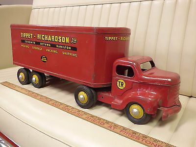 1950s MINNITOY (Otaco) TIPPET RICHARDSON Transport Truck Steel Toy