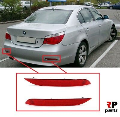 New Bmw 5-Series E60 E61 Pair Rear Bumper Reflectors 2003-2010