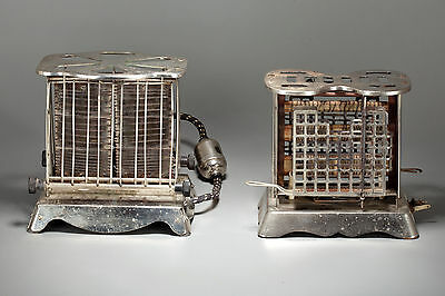 Two Vintage Pre 1920s Toasters Westinghouse and Electro Weld - Working Condition