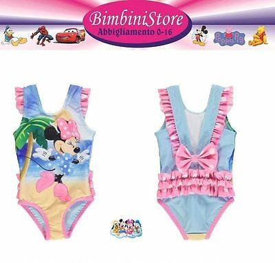 Costume mare Minnie intero piscina neonata disney originale 3 6 9 12 18 24 mesi