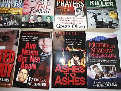 Lot Of 10 Paper Back Books True Crime Great Mix Of Authors Lot #3