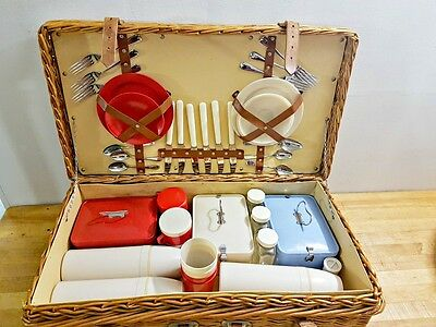 Fabulous Vintage English Picnic Basket