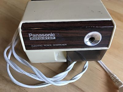 Vintage Panasonic Auto-Stop Electric Pencil Sharpener KP-110 Tested Works Japan