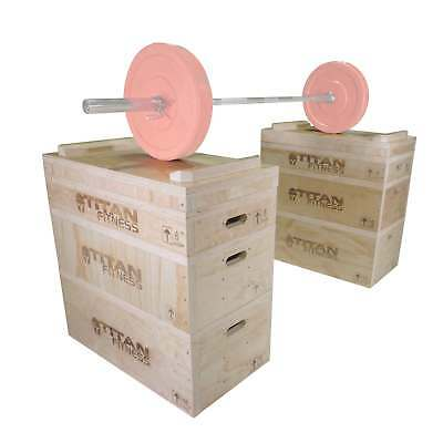 Titan Fitness Wood Jerk & Clean Blocks