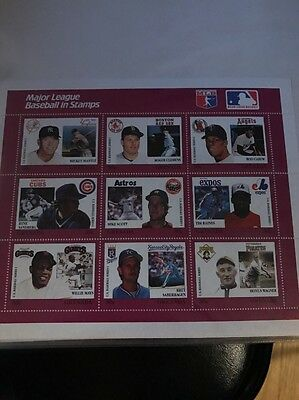 Major League Baseball 30 cent Stamps Set with extras