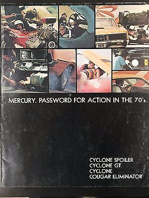 """VINTAGE AUTHENTIC 1970's Mercury Brochure """"Password for Action in the '70's"""""""