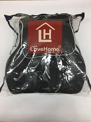 Love Home Premium Memory Foam Car Lumbar Cushion & Car Neck Pillow Kit (Black)