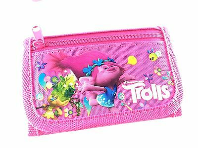 Party Favors Dreamworks Trolls 2 Card pockets Trifold Wallet-PINK