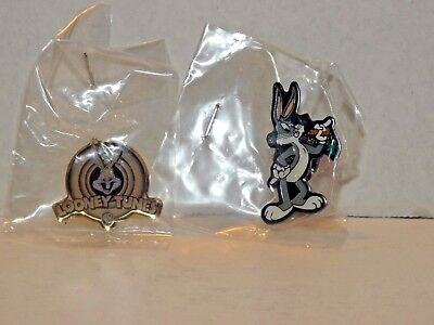 Set Of 2 Bugs Bunny Looney Tunes Warner Brothers Pins Rare HTF 1997 & 1999 New