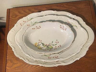 Mitterteich Set of 3 Serving Dishes/Platters/Plates