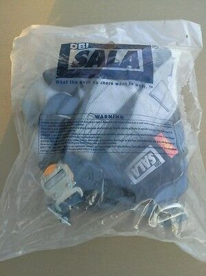 """Brand New"" DBI SALA 1108525 Full Body Harness, SM, 420 lb., Blue/Gray"