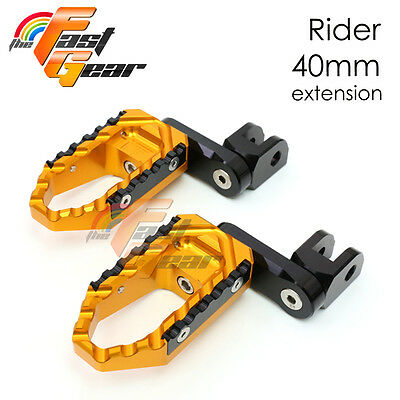 Multi Step Gold 40mm Tour Front Foot Pegs Fit Honda CBR400RR NC29 90-95 96 97