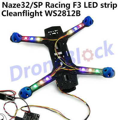 4sets Naze32 SP Racing F3 cleanflight betaflight LED lamp LED Strip WS2812B RGB