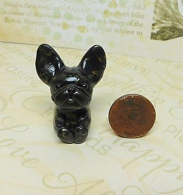 Brindle French Bulldog pocket pal, Totem Frenchie by Raquel at theWRC clay