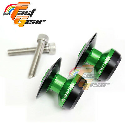 Twall Protector Green Swingarm Spools Sliders Fit Kawasaki Z1000 2014-2017