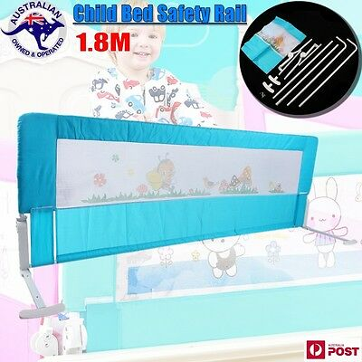 Child Kid Toddler 180cm Safety Bed Rail Baby Foldable Cot Guard Protection AU