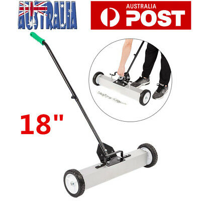 """18"""" Magnetic Sweeper Magnetic Broom Rolling Magnetic Pickup Sweeper Heavy Duty"""
