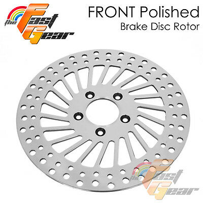 Polished Front Brake Disc For Harley FXST SOFTAIL STANDARD 00-07
