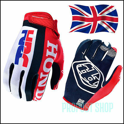 Troy Lee Designs 2017 Mens Adult Air Glove Team Honda Red/White MX/ATV Motocross