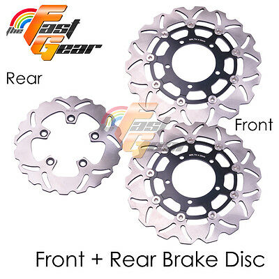 Front Rear SS Brake Disc Rotor Set For Suzuki GSXR 1000 K5 / K6 05 06