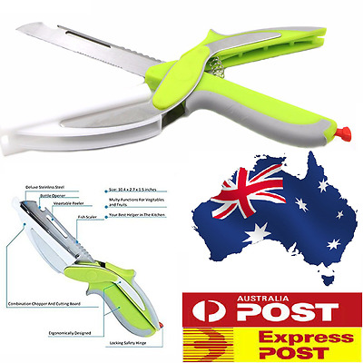 Clever Cutter 6 in 1 Cutting Board Scissors As Seen On TV Multifunctional Knife