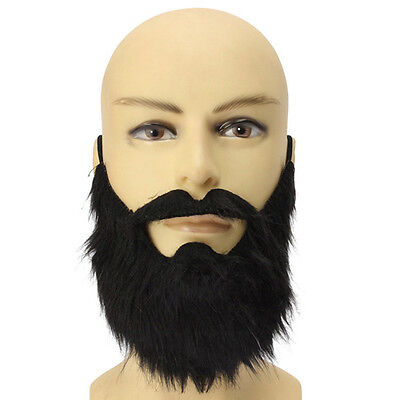 Fake Beards Costume Party Moustache Black Halloween for Pirate Cosplay