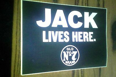 jack daniels sticker jack lives here -all new never used -large square one