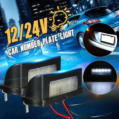 2 x 12V/24V LED Number Licence Plate Light Rear Tail Camper Truck Trailer Lorry